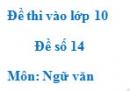 Đề số 14 - Đề thi vào lớp 10 môn Ngữ văn