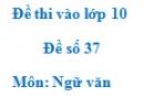 Đề số 37 - Đề thi vào lớp 10 môn Ngữ văn