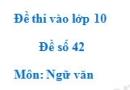 Đề số 42 - Đề thi vào lớp 10 môn Ngữ văn