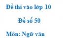 Đề số 50 - Đề thi vào lớp 10 môn Ngữ văn