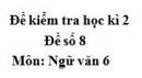 Đề số 8 - Đề kiểm tra học kì 2 (Đề thi học kì 2) - Ngữ văn 6