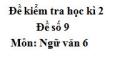 Đề số 9 - Đề kiểm tra học kì 2 (Đề thi học kì 2) - Ngữ văn 6