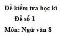 Đề số 1 - Đề thi học kì 2 - Ngữ văn 8