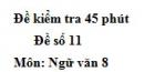Đề số 11 - Đề kiểm tra 45 phút (1 tiết) - Học kì 2 - Ngữ văn 8