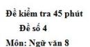 Đề số 4 - Đề kiểm tra 45 phút (1 tiết) - Học kì 1 - Ngữ văn 8
