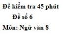 Đề số 6 - Đề kiểm tra 45 phút (1 tiết) - Học kì 1 - Ngữ văn 8