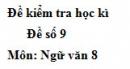 Đề số 9 - Đề thi học kì 2 - Ngữ văn 8