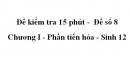 Đề kiểm tra 15 phút -  Đề số 8 - Chương I - Phần tiến hóa - Sinh 12