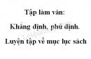 Tập làm văn: Khẳng định, phủ định. Luyện tập về mục lục sách trang 54 SGK Tiếng Việt 2 tập 1