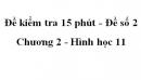 Đề kiểm tra 15 phút - Đề số 2 - Chương 2 - Hình học 11