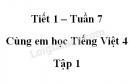 Giải Cùng em học Tiếng Việt lớp 4 tập 1 - trang 25, 26, 27 - Tuần 7 - Tiết 1