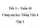 Giải Cùng em học Tiếng Việt lớp 4 tập 1 - trang 35, 36 - Tuần 10 - Tiết 1