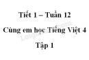 Giải Cùng em học Tiếng Việt lớp 4 tập 1 - trang 42, 43 - Tuần 12 - Tiết 1
