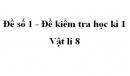 Đề số 1 - Đề kiểm tra học kì 1 - Vật lí 8