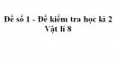 Đề số 1 - Đề kiểm tra học kì 2 - Vật lí 8