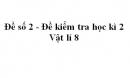 Đề số 2 - Đề kiểm tra học kì 2 - Vật lí 8