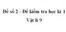 Đề số 2 - Đề kiểm tra học kì 1 - Vật lí 9