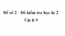Đề số 2 - Đề kiểm tra học kì 2 - Vật lí 9