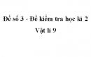 Đề số 3 - Đề kiểm tra học kì 2 - Vật lí 9