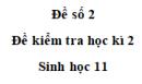 Đề số 2 – Đề kiểm tra học kì 2 – Sinh 11