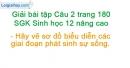 Câu 2 trang 180 SGK Sinh học 12 nâng cao