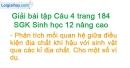Câu 4 trang 184 SGK Sinh học 12 nâng cao