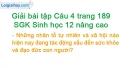 Câu 4 trang 189 SGK Sinh học 12 nâng cao