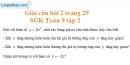 Trả lời câu hỏi 2 Bài 1 trang 29 Toán 9 Tập 2