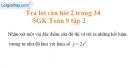Trả lời câu hỏi 2 Bài 2 trang 34 Toán 9 Tập 2