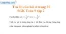 Trả lời câu hỏi 4 Bài 1 trang 30 Toán 9 Tập 2