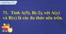 Trả lời câu hỏi 1 Bài 7 trang 41 SGK Toán 7 Tập 2