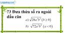 Trả lời câu hỏi 3 Bài 6 trang 25 SGK Toán 9 Tập 1