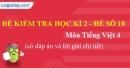 Đề số 10 - Đề kiểm tra học kì 2 (Đề thi học kì 2) – Tiếng Việt 4