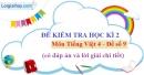 Đề số 9 - Đề kiểm tra học kì 2 (Đề thi học kì 2) – Tiếng Việt 4