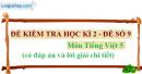 Đề số 9 - Đề thi học kì 2 - Tiếng Việt 5