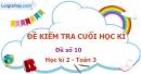Đề số 10 - Đề kiểm tra học kì 2 (Đề thi học kì 2) - Toán lớp 3