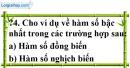 Trả lời câu hỏi 4 Bài 2 trang 47 SGK Toán 9 Tập 1