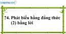 Trả lời câu hỏi 4 Bài 3 trang 10 SGK Toán 8 Tập 1