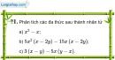 Trả lời câu hỏi 1 Bài 6 trang 18 SGK Toán 8 Tập 1
