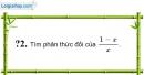 Trả lời câu hỏi 2 Bài 6 trang 49 SGK Toán 8 Tập 1