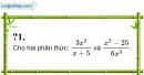 Trả lời câu hỏi 1 Bài 7 trang 51 SGK Toán 8 Tập 1
