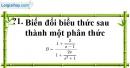 Trả lời câu hỏi 1 Bài 9 trang 56 SGK Toán 8 Tập 1