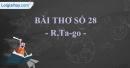 Bài thơ số 28 - R.Ta-go