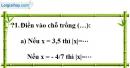 Trả lời câu hỏi 1 Bài 4 trang 13 SGK Toán 7 Tập 1