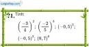 Trả lời câu hỏi 1 Bài 5 trang 17 SGK Toán 7 Tập 1