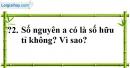 Trả lời câu hỏi 2 Bài 1 trang 5 SGK Toán 7 Tập 1