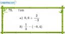Trả lời câu hỏi 1 Bài 2 trang 9 SGK Toán 7 Tập 1