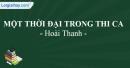 Một thời đại trong thi ca - Hoài Thanh