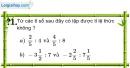 Trả lời câu hỏi 1 Bài 7 trang 24 SGK Toán 7 Tập 1
