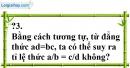 Trả lời câu hỏi 3 Bài 7 trang 25 SGK Toán 7 Tập 1